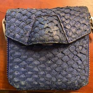 Alexander Wang Quillon Compact Wallet in Azure Bl